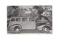Unused Advertising Postcard 1937 Pontiac Station Wagon Woody