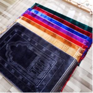 Prayer Mat Padded Muslim Islamic Musallah Namaz Large Thick Rug Size 80 x 120cm