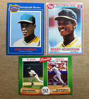 1990 Ricky Henderson Jumbo Sunflower Seeds Reprint Card Nice Free Shipping US Only