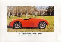 5315AL Alfa G6C 2500 Super Sport 1939 Prospektbeilage 1983 Bildprospekt