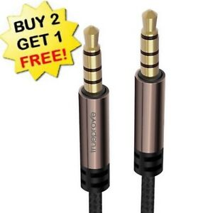 🔥TrueProve® PRO 3.5MM Aux Cable Male to Male Audio Input Extension TRRS Stereo