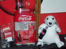 COCA - COLA TIN STUFFED BEAR AND MAGNET