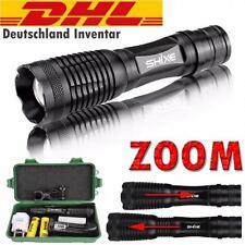 8000LM Militär Taktisch T6 LED Taschen-lampe Flash-light Fokus Zoom 18650 DE001
