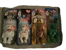 McDonalds TY Beanie Babies Complete Set 4 International Bears With Errors RARE