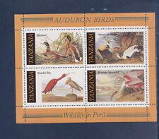 Tanzanie      bloc   faune oiseaux  canards  Audubon  1986