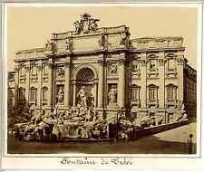 Italie, Rome, Fontaine de Trevi  Vintage albumen print. Vintage Italy   Tirage