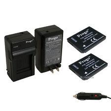2 Battery & Charger For Panasonic DMW-BCH7 BCH7PP BCH7E DMC-FP1 DMC-FP2 DMC-FP3