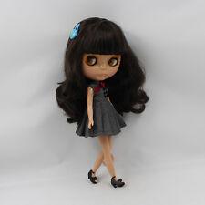 "Takara 12"" Neo Blythe Nude Doll From Factory brown hair dark skin free shipping"