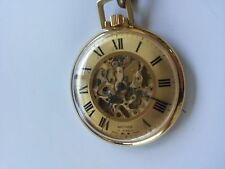 Vintage Waltham Pocket Watch 17 Jewels Gold Plated Hand Wind Running Swiss Made