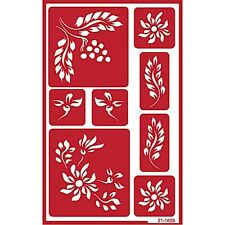 Over n Over Reusable Self Stick Reusable Glass Etching Stencils ~ BERRIES