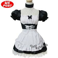 Anime Neon Genesis Evangelion EVA Rei Ayanami Lolita Dress Maid Cosplay Costume