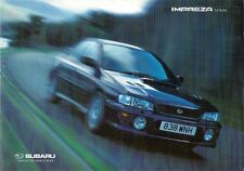 Subaru Impreza 1999-2000 UK Market Sales Brochure 2.0 GL Sport 2000 Turbo