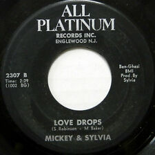 MICKEY & SYLVIA 45 Love Drops / Because You ALL PLATINUM RECORDS Soul #B351