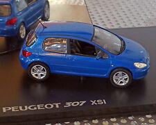 Peugeot 307 blau-Metallic, 1:43, NOREV