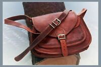 REAL HANDMADE DESIGNER REAL LEATHER SATCHEL SADDLE BAG RETRO RUSTIC VINTAGE