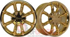 SET OF 4 Enkei Spider 17x7 5-100/114.3 ET46 Gold Rims Small - Medium 5 Stud Cars