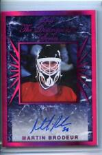 2017-18 LEAF HOCKEY THE DISTINGUISHED SERIES AUTOGRAPH CARD 1/7 Martin Brodeur
