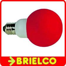 BOMBILLA 20 LEDS COLOR ROJA E27 DIAMETRO 60MM 1W UNIDAD BD3622