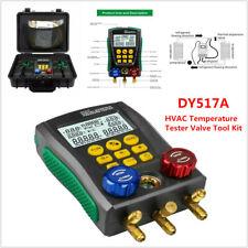 Refrigeration Digital Manifold Gauge Meter Hvac Vacuum Pressure Temp Tester Tool