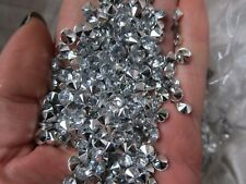 Wedding Bridal Party Table Scatter Sprinkle Confetti Crystals 100 - 2000 Silver