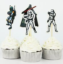 STAR WARS CUPCAKE TOPPERS 24 PCS / PARTY SUPPLIES/ BIRTHDAY STARWARS