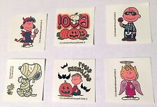 NEW! 24 PEANUTS HALLOWEEN TEMPORARY TATTOOS SNOOPY PARTY COSTUME TRICK OR TREAT