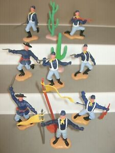 Timpo 7th cavalry 2nd series full set of 8 in all 8 poses foot v/g/cond set 3