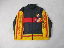 VINTAGE Karl Kani Jacket Adult 3XL XXXL Black Yellow Spell Out Coat 2pac Mens *
