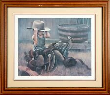 """Norberto Reyes! Signed and Numbered Color Lighograph!  """"Little Cowboy"""""""
