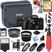 Olympus OM-D E-M10 Mark III Mirrorless Digital Camera + 14-42mm Lens Deluxe Kit