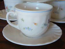 Victoria by Arcopal France coffee tea cup & saucer floral with swirl edge teacup