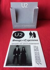 U2 - SONGS OF EXPERIENCE CD Display Box + Promo Stickers