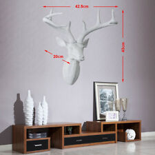 XL Size Wall Mounted White Stags Deer Head Antlers Resin 3D Wall Art Home Decro