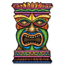 3ft Jumbo Tiki Card Cutout - Hawaiian Exotic Luau Themed Party Decorations
