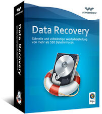 Wondershare Data Recovery Datenrettung lifetime Vollver. Download AKTION 25,99 !