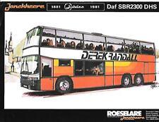 Daf SBR 2300 DHS Jonckheere Jubilee P99 bus coach Brochure-Sheet Mi années 80
