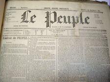 LE PEUPLE DE PROUDHON . DU SPECIMEN SEPTEMBRE 1848 A JUIN 1849 . COMPLET . RARE