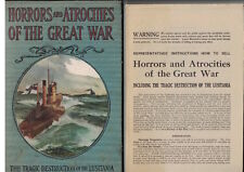 Horrors and Atrocities of the Great War 1915 Salesmen Sample w Advertisements