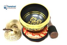 4 InchTibetan Meditation Yoga Singing Bowl Set with MalletCushion and Om Tingsha