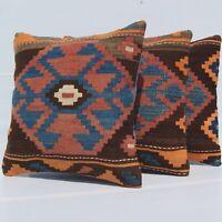 "Home decorative Caucasian cushion pillow covers handmade old kilim rug 18""X18"""