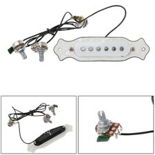Acoustic Guitar Soundhole Pickup 6 String White For Cigar Box Guitar Accessories