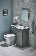 900 L Shaped Avola Bathroom Combi Unit With Basin & Toilet RIGHT HAND