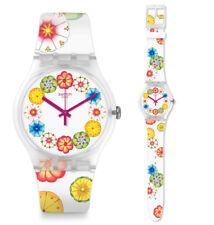 Swatch Kumquat Uhr SUOK127 Analog  Silikon Bunt,Weiß