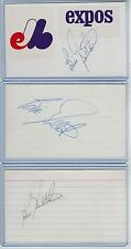 (3) BILL GULLICKSON INDEX CARD SIGNED 1979-94 EXPOS TIGERS PSA/DNA CERTIFIED