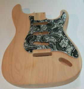US red alder Strat Body Korpus Tremolo 60 er shaping Gitarrenbau 1,65 Kg leicht