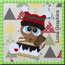 GINGERBREAD MAN SMORES Embellishment Paper Piecing card toppers scrapbooking