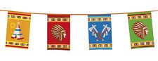 Cowboys & Indians Flag Bunting Party Decoration - 33Ft / 10M Long - New & Sealed