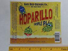 Bier Etikett Aufkleber ~ Knie Tief Gär Hoparillo Triple Ipa ;
