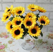 FD1010 Artificial Sunflowers Posy Bouquet Home Craft Decor DIY ~1 Bunch 7 Heads~