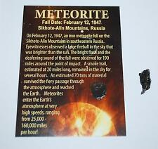 Sikhote Alin Russian Genuine Meteorite 2 to 3 grams size w/ Color Label #738